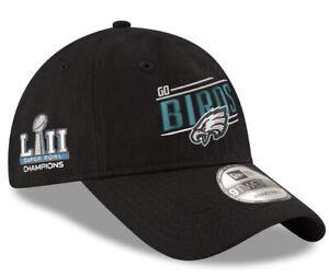 NWT Philadelphia Eagles GO BIRDS Adjustable New Era Super Bowl Champions Hat Cap