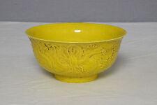 Chinese  Monochrome  Yellow  Glaze  Porcelain  Bowl  With  Mark     M1162