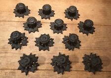 Cast Iron Leaf Base Button Knob Drawer Pulls (Case of 12) Home Decor 0184J-0058