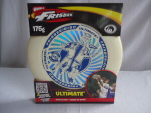 Ultimate Frisbee Disc Sport Disc White and Blue