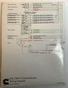 Cummins ISX CM871 Control Module Wiring Diagram  Bulletin 4021575-02