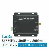 E32-DTU-868L30 LoRa 1W 30dBm SX1276 868Mhz IoT Transciever RS232 RS485: UK Stock