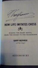 Garry Kasparov SIGNED How Life Imitates Chess HC 1st Ed AUTOGRAPHED