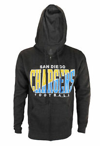 San Diego Chargers NFL Football Mens Split Formation Fleece Hoodie, Gray