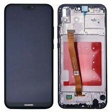 HUAWEI P20 LITE DISPLAY LCD frame telaio TOUCH SCREEN schermo VETRO NERO ANE-LX1