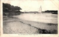 Vintage Postcard -1900's Little Coney Island Kings Park Sail Boat New York #4220