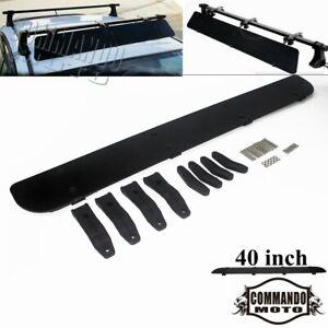 40 inches Black Car Top Rack Aerodynamic Roof Wind Fairing Air Deflector Kit New