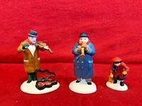 Street Musicians 3pc Dept 56 Heritage Village 55646 Christmas snow people city