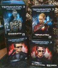 Terminator 3 Collectable Movie Busts set of 4   Make Gentle giant not t2 used