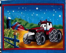 "Case IH Cartoon Tractor Quilt Panel, DIY 90cmW x 110cmH,(35"" X 44"") 100% Cotton"