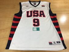 Reebok USA Olympic #9 Lebron James Basketball Jersey White Navy Red Sz X-Large