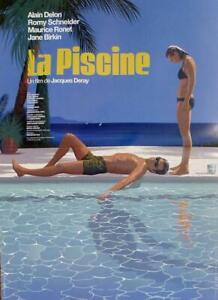 LA PISCINE - THE SWIMMING POOL - DELON - LAURENT DURIEUX ORIGINAL MOVIE POSTER
