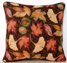 Fall /Autumn Leaves- Ginkgo, Maple & Assorted Leaves Large Tapestry Pillow New