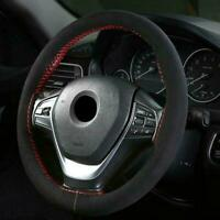 1x 38cm DIY Auto Car Car Steering Wheel Suede Cover Accessories Hand Sewing F2Z5