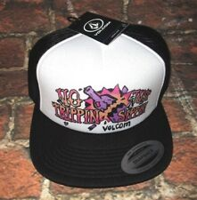 MENS VOLCOM BLACK WHITE SNAPBACK HAT ADJUSTABLE CAP ONE SIZE