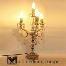 Murano Tischlampe Messing Lampe Kristall Glas geschliffen 50er 70er 🌺🌺🌺🌺🌺
