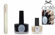 3pc Ciaté Paint Pot Set Chalkboard Black & Party Shoes Glt & Champneys Nail File