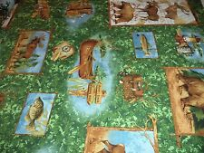 VINTAGE WILD LIFE PRINT FABRIC  - 14 YARDS IN STOCK - BY THE YD - UNOPENED