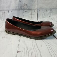 Dr Martens Womens Marie Flats Sz 39 US 8 Red Patent Leather