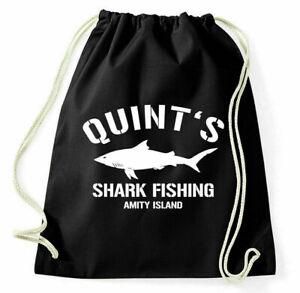 Quint's Shark Fishing Gym Bag Amity Island Jaws Sportbeutel Der White Shark