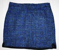 J Crew Wool Blend Pencil Skirt Blue Black Tweed Lined Womens Size 4 New NWT