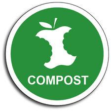 """Compost 4"""" Green Garbage Waste Organic Fertilizer Mulch Vinyl Decal 3M Sticker"""