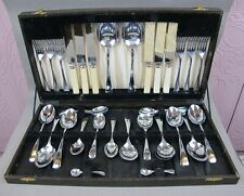 Vintage Old English pattern Brunch / Afternoon Tea CUTLERY CANTEEN SET for 6.