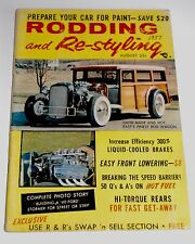 August 1957 RODDING & RE-STYLING Magazine — John Good's '32 Ford Wagon Cover