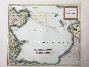 Netherlands Zuiderzee 1791 IJsselmeer Sudersee Zuyder by Von Reilly, antique map