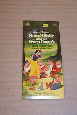 Snow White and the Seven Dwarfs Disney Soundtrack and Story SEALED Longbox New