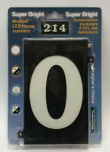"""Envir Mate Super Bright Modular LED House Number """"0"""" Automatic On/Off 4G2"""