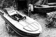 "WWII photo Japanese kamikaze boats Type 1 ""Sinoy"" in Okinawa war 11o"