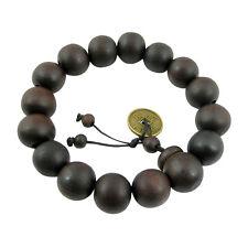 Homme Bracelet Chapelet Perles Bois Santal Tibétaine Bouddhiste Mala Bouddha NF