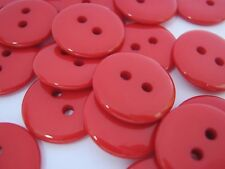 """10 Red Buttons 18mm (3/4"""" Resin Sewing Buttons Christmas Clothing Sewing Crafts"""