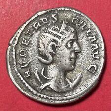Herennia Etruscilla Silver Antoninianus, RIC 586, 250-251 AD, 3.98g