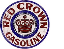 """TIN SIGN """"Red Crown""""  Gas-Oil   Signs  Rustic Wall Decor"""