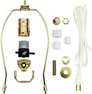 Lamp Kit for Liquor Bottles - Includes All Adapters and Parts - Gold Finish