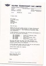 Vosper Thorneycroft (UK) Ltd shipbuilders. Woolston.  1980's 90's letters zi50