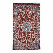 """5'x8'7"""" Red Nahavand Pure Wool Hand-Knotted Tribal Oriental Rug R45812"""