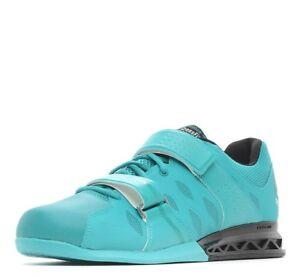 Men Reebok Crossfit Lifter Plus 2.0 Leather WOD Shoes Neon Pacific BD2567