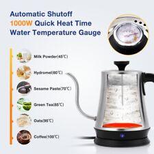 1000W Gooseneck Electric Kettle Temperature Control Coffee Tea Water Pot US