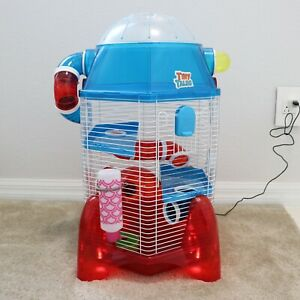All Living Things Tiny Tales Rocket Ship Small Pet Connectable Hamster Home Cage