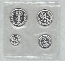 More details for sealed 1987 elizabeth ii maundy four coin set in mint condition.