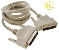 6ft. DB25 Male to Male 25-Conductor Serial/Parallel/SCSI Straight-Thru Cable