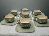 Vintage Weil Ware Blossom Cups And Saucers 14 Pieces.