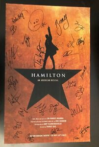(Large) HAMILTON Poster, Autographed by Broadway Cast Members!