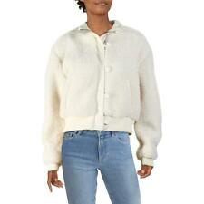 Bar Iii Womens Winter Faux Shearling Crop Bomber Jacket Outerwear Bhfo 7335