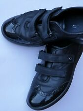 ECCO Girl`s Black Leather Shoes, Size: 35
