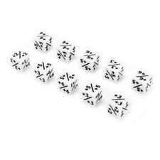 10pcs 16mm Counters Dice White +1/+1 For Magic: The Gathering Game Kids Toy Gift