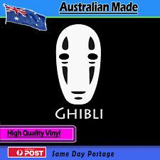 Sticker - No Face, Studio Ghibli, Spirited away Bumper White Vinyl Car laptop